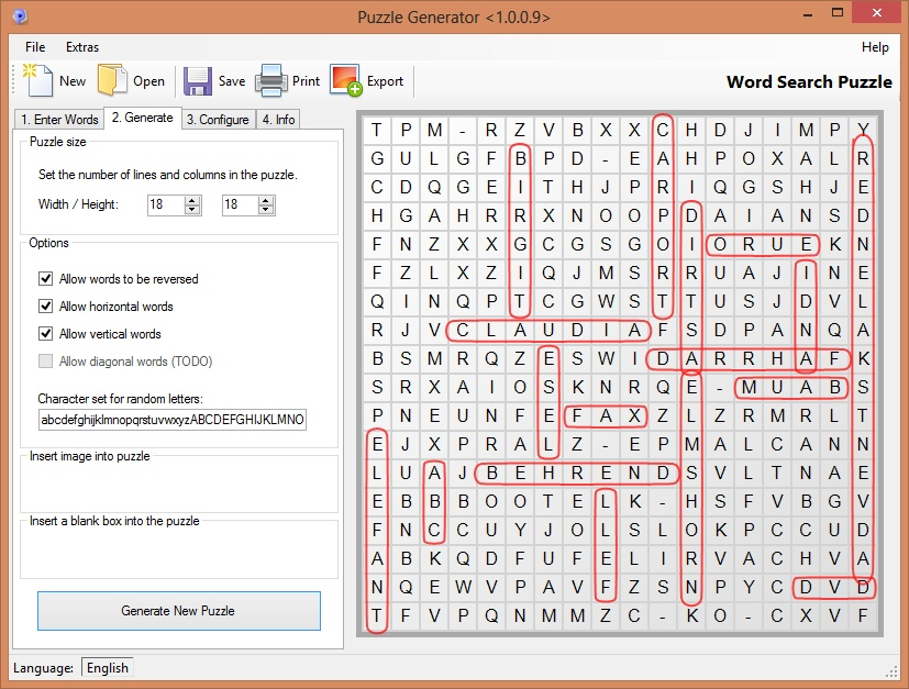 ... word search puzzles and more - using your own word lists. Just